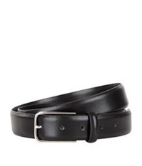 Sandro Slim Leather Belt Black