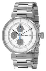 Issey Miyake 'W' Chronograph Bracelet Watch 43Mm Silver White