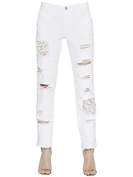 Ermanno Scervino Boyfriend Destroyed Denim Jeans