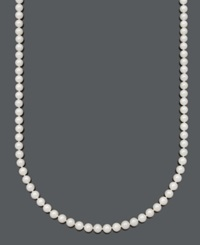 Belle De Mer Pearl Necklace 20' 14K Gold A Cultured Freshwater Pearl Strand 6 7Mm