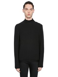 The Kooples Ribbed Cotton Blend Jersey Sweater
