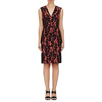 J. Mendel Women's Stretch Crepe Cocktail Dress Pink