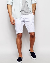 Asos Chino Shorts In Skinny Fit Whte