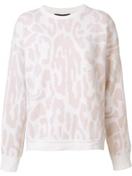 Baja East Leopard Print Jumper Pink Purple
