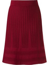 Egrey High Waisted Knit Skirt Red