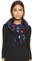 Theodora And Callum Durango Scarf Blue Multi