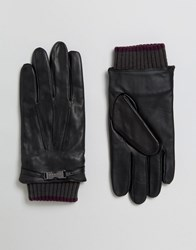 Ted Baker Gloves In Leather Black