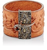 Sevan Bicakci Women's Embossed Leather Wide Band Bracelet Colorless