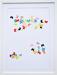 K Studio Colored Butterflies Wall Art