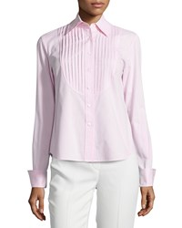 Lafayette 148 New York Nula Long Sleeve Pleated Blouse Frosted Rose