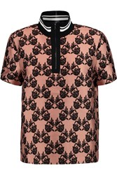 Mother Of Pearl Javel Printed Cotton And Silk Blend Top Pink