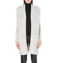 360Cashmere Astrid Wool And Cashmere Blend Cardigan Lt Grey Tweed