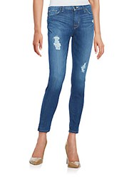 Hudson Mid Rise Distressed Skinny Ankle Jeans Sunnyville