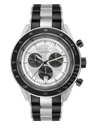 Givenchy Eleven Stainless Steel Chronograph Watch Silver Black