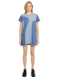 House Of Holland Patchwork Cotton Denim Dress