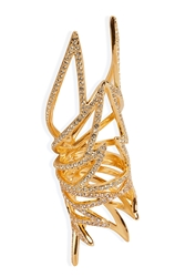 Eddie Borgo Gold Plated Pave Wing Ring
