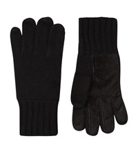 Harrods Of London Suede Palm Cashmere Gloves Unisex