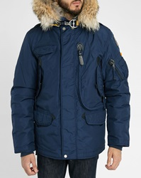 Parajumpers Navy Right Hand Parka With Removable Fur And Lining