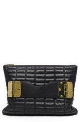 Hayden Harnett 'Bowdoin' Quilted Leather Clutch Black Black Quilted