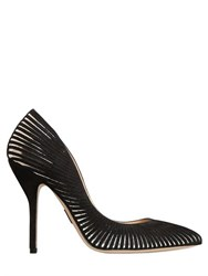Paul Andrew 105Mm Colombus Mirror Cutout Suede Pumps