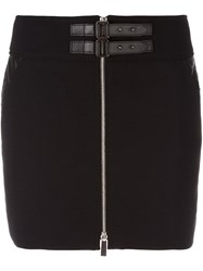 Barbara Bui Buckled Zip Mini Skirt Black