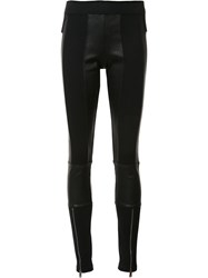 Paco Rabanne Panelled Leggings Black