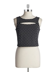 Bb Dakota Polka Dot Crop Top Black