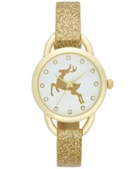Charter Club Women's Gold Tone Glitter Strap Watch 30Mm Only At Macy's