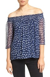 Velvet By Graham And Spencer Women's Chiffon Off The Shoulder Top