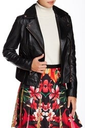 Ted Baker Riza Genuine Leather Jacet Black