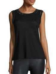 Generation Love Fiona Crystal Tank Top Black