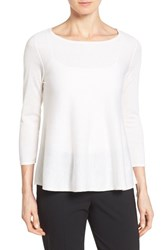 Women's Nordstrom Collection Silk And Cashmere Pullover Ivory Soft