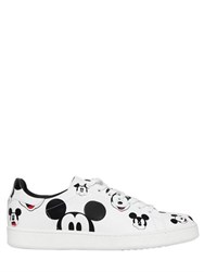 Moa Master Of Arts Mickey Mouse Printed Leather Sneakers