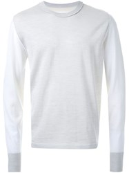 Maison Martin Margiela Maison Margiela Two Tone Sweater Nude And Neutrals