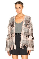 Ulla Johnson Elena Wrap In Pink Abstract Pink Abstract