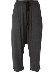Lost And Found Cropped Drawstring Trousers Grey