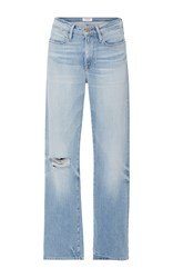 Frame Denim Le High '70S Straight Fit High Rise Jeans Light Wash