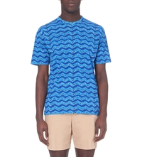 Marc By Marc Jacobs Printed Cotton Jersey T Shirt Blue Multi