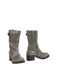 Pons Quintana Ankle Boots Dark Green