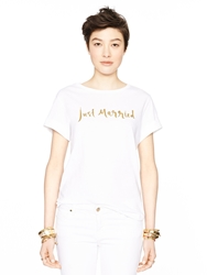 Kate Spade Just Married Tee Fresh White