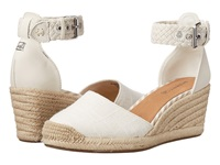 Sperry Valencia Canvas Ivory Women's Wedge Shoes White