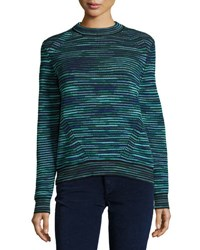 M Missoni Chunky Space Dyed Wool Blend Sweater Teal