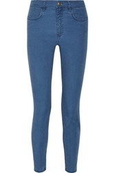 A.P.C. Atelier De Production Et De Creation Minimal Mid Rise Skinny Jeans Blue