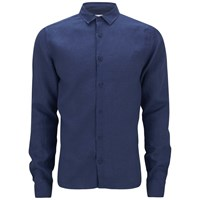 Orlebar Brown Men's Long Sleeve Shirt Azure Blue
