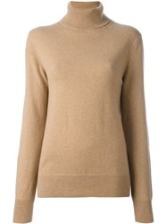 Joseph Turtleneck Jumper Brown