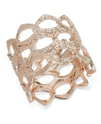 Inc International Concepts Openwork Crystal Accented Wide Bangle Bracelet Only At Macy's Rose Gold