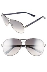 Jimmy Choo Women's 'Lexie' 61Mm Aviator Sunglasses Dark Ruthenium Blue Dark Ruthenium Blue