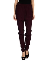 Pieces Casual Pants Deep Purple
