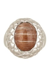 Savvy Cie Sterling Silver Rutilated Quartz Ring Brown