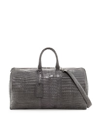 Santiago Gonzalez Speedy Crocodile Duffle Bag Charcoal